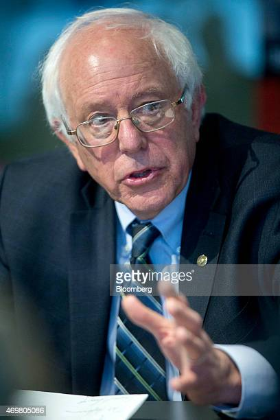 Senator Bernard 'Bernie' Sanders an independent from Vermont and possible presidential candidate speaks during an interview in Washington DC US on...