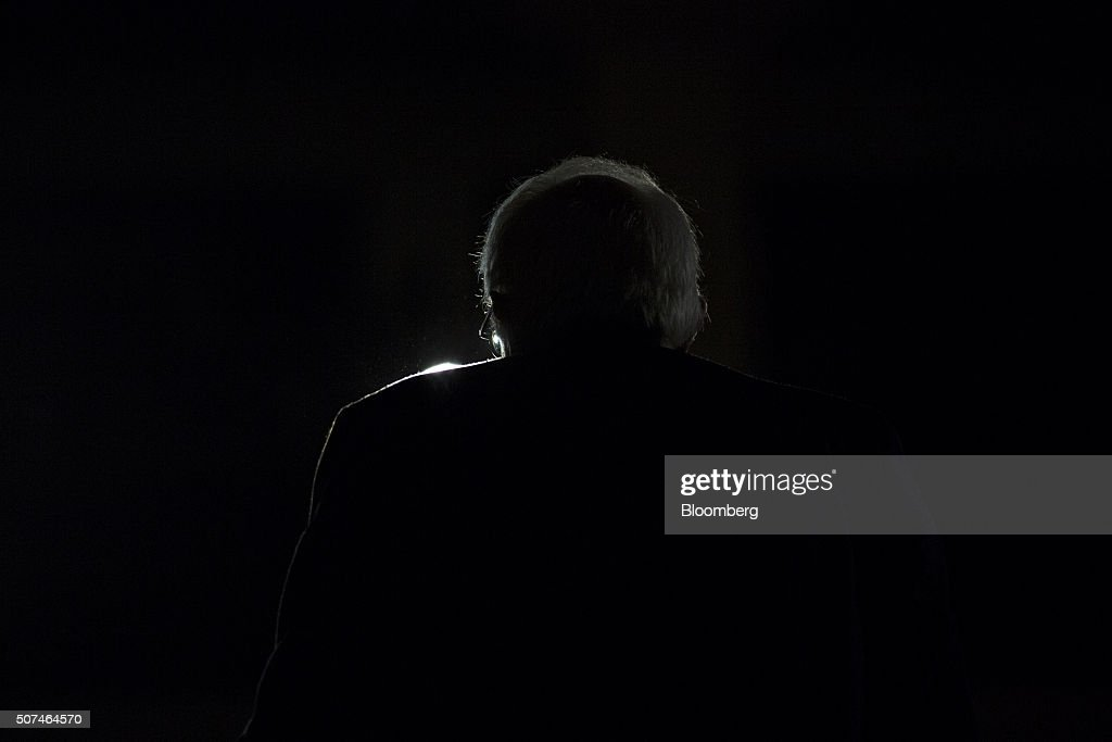Senator Bernie Sanders an independent from Vermont and 2016 Democratic presidential candidate speaks during a campaign rally at Danceland Ballroom in...