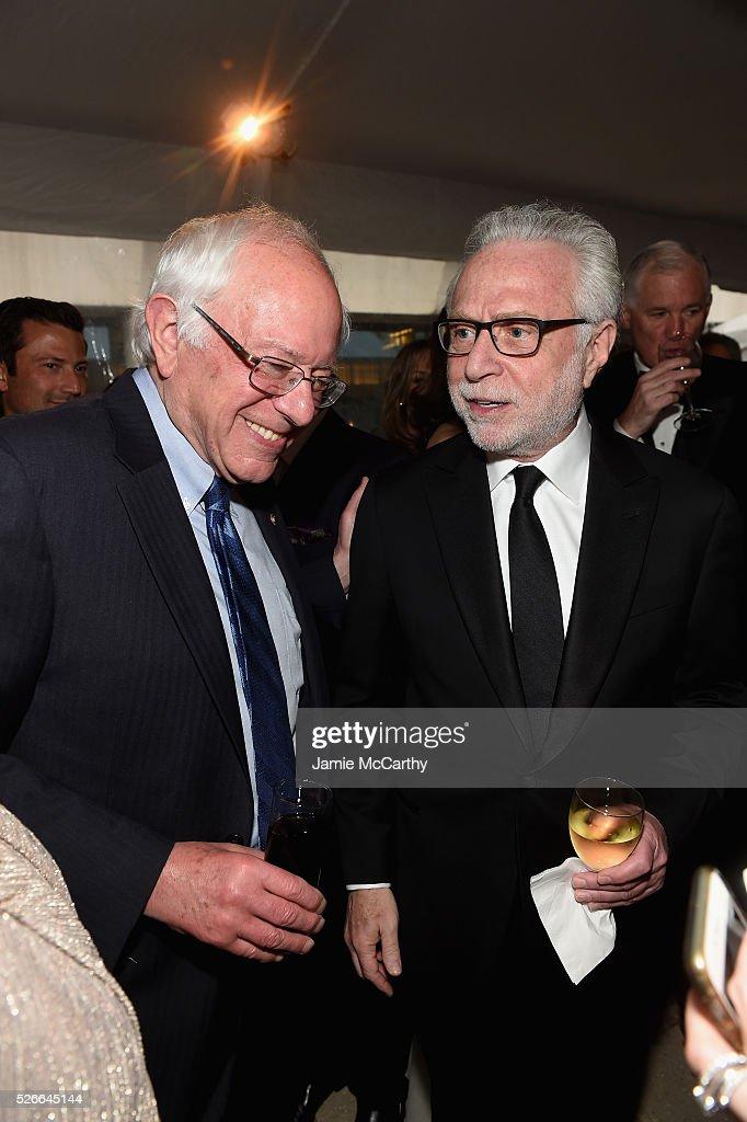 Senator Bernie Sanders and journalist Wolf Blitzer attend the Atlantic Media's 2016 White House Correspondents' Association Pre-Dinner Reception at Washington Hilton on April 30, 2016 in Washington, DC.