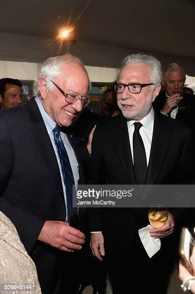 Senator Bernie Sanders and journalist Wolf Blitzer attend the Atlantic Media's 2016 White House Correspondents' Association PreDinner Reception at...