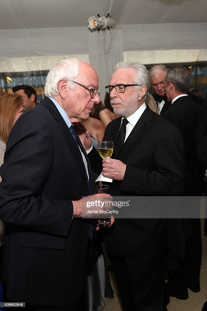 Senator Bernie Sanders and journalist Wolf Blitzer attend the Atlantic Media's 2016 White House Correspondents' Association Pre-Dinner Reception at Washington Hilton on April 30, 2016 in Washington, DC.