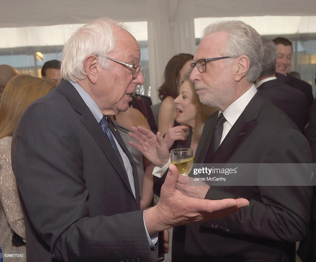 Senator <a gi-track='captionPersonalityLinkClicked' href=/galleries/search?phrase=Bernie+Sanders&family=editorial&specificpeople=2908340 ng-click='$event.stopPropagation()'>Bernie Sanders</a> and journalist <a gi-track='captionPersonalityLinkClicked' href=/galleries/search?phrase=Wolf+Blitzer&family=editorial&specificpeople=221464 ng-click='$event.stopPropagation()'>Wolf Blitzer</a> attend the Atlantic Media's 2016 White House Correspondents' Association Pre-Dinner Reception at Washington Hilton on April 30, 2016 in Washington, DC.