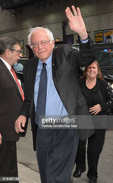 Senator Bernie Sanders is seen on March 31 2016 in New York City