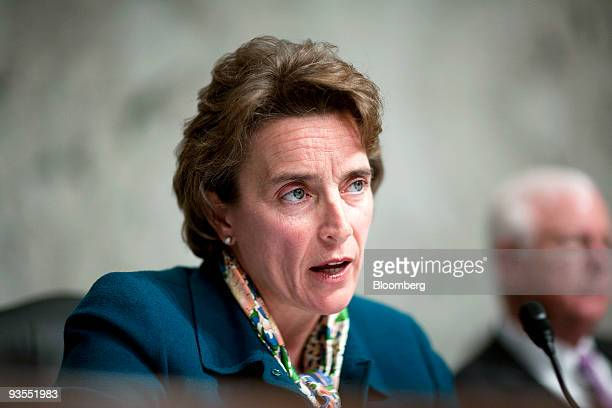 Senator Blanche Lincoln a Democrat from Arkansas chairs a Senate Agriculture Committee hearing with Treasury Secretary Timothy Geithner in Washington...