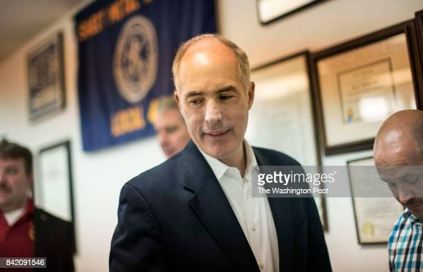 BARRE PA Senator Bob Casey meets and works with constituents from Sheet Metal Workers Local 44 during August Congressional recess trade forum in...