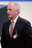 US senator Bob Corker attends the 51st Munich Security Conference on February 6 2015 in Munich Germany Foreign ministers and defense ministers from...