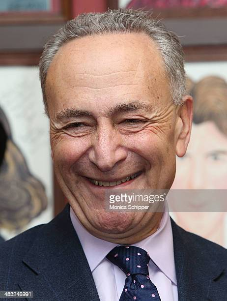 S Senator Charles E Schumer attends US Senator Charles E Schumer announces his campaign to give Broadway and live theater productions a major tax...