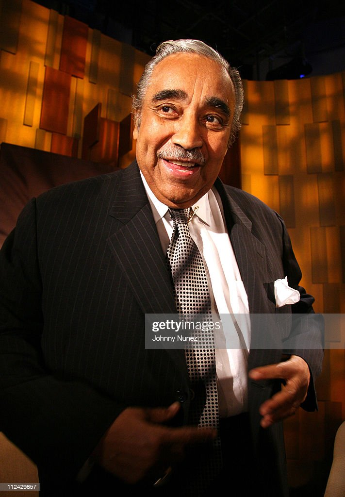 Senator Charles Rangel during Iyanla Vanzant, Tocarra, Charles Rangel, Thomas Lopez-Pierre and Dr. Benjiman Chavis Visit 'Meet the Faith' - May 5, 2006 at BET Studio in New York, New York, United States.