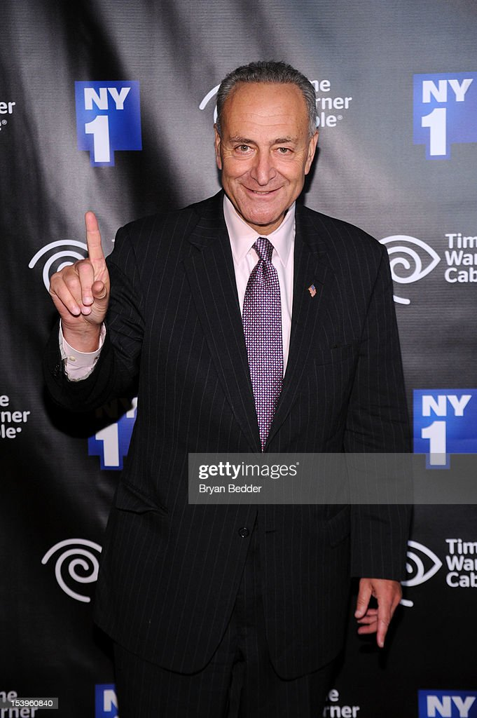 Senator Charles Schumer attends the NY1 20th Anniversary party, in celebration of two decades of the New York City news channel at New York Public Library on October 11, 2012 in New York City.