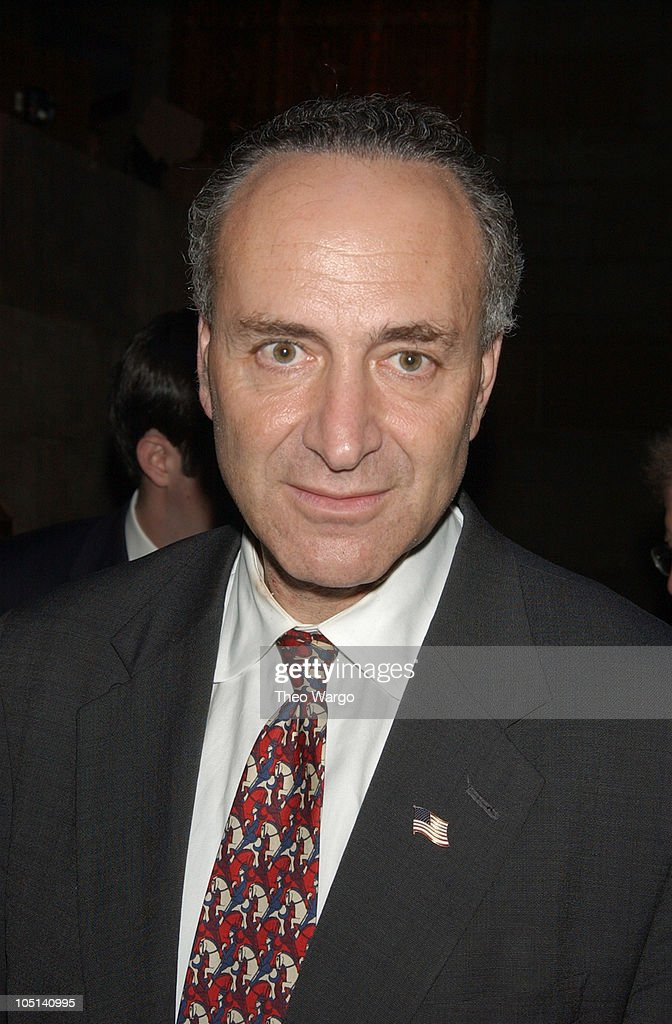 US Senator <a gi-track='captionPersonalityLinkClicked' href=/galleries/search?phrase=Charles+Schumer&family=editorial&specificpeople=171249 ng-click='$event.stopPropagation()'>Charles Schumer</a> during Partnership for Public Service to honor Paul A. Volcker and The West Wing at Cipriani in New York City, New York, United States.