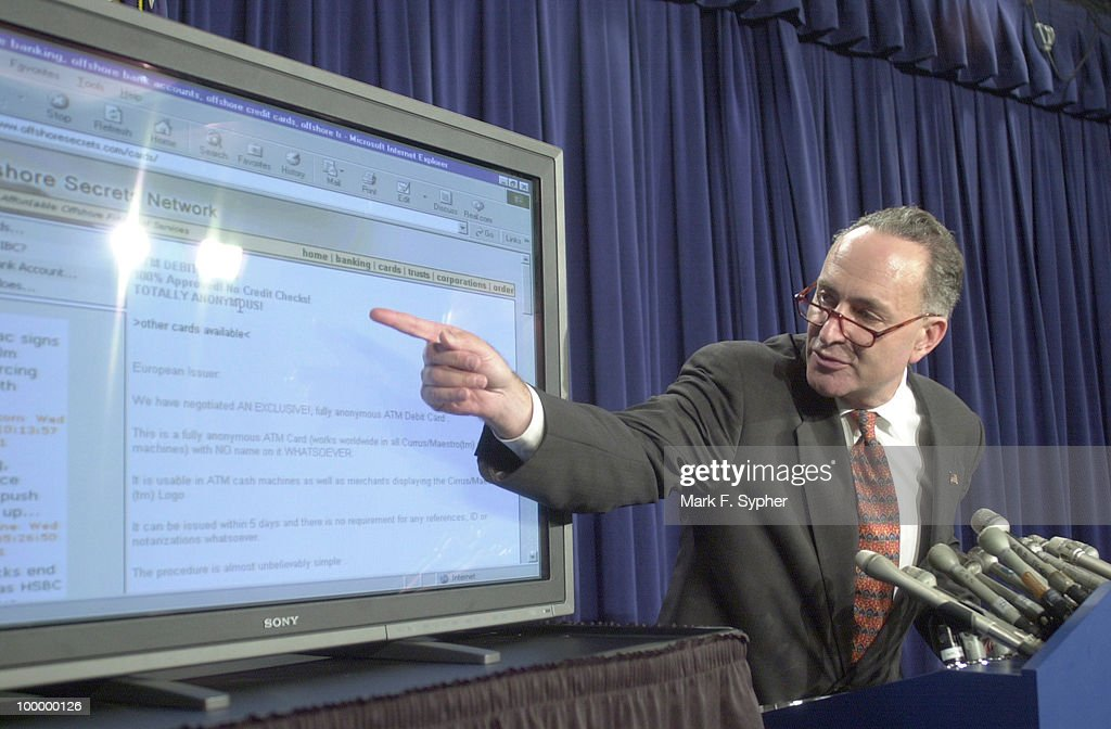 Senator Charles Schumer (D-NY) spoke on Wednesday about the ease of opening overseas bank accounts which remain confidential to the FBI, thus allowing terrorist to transfer funds globaly, without consequences.