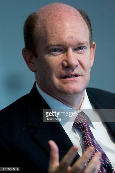 Senator Chris Coon a Democrat from Delaware speaks during an interview in Washington DC US on Thursday June 18 2015 The House plans to vote Thursday...