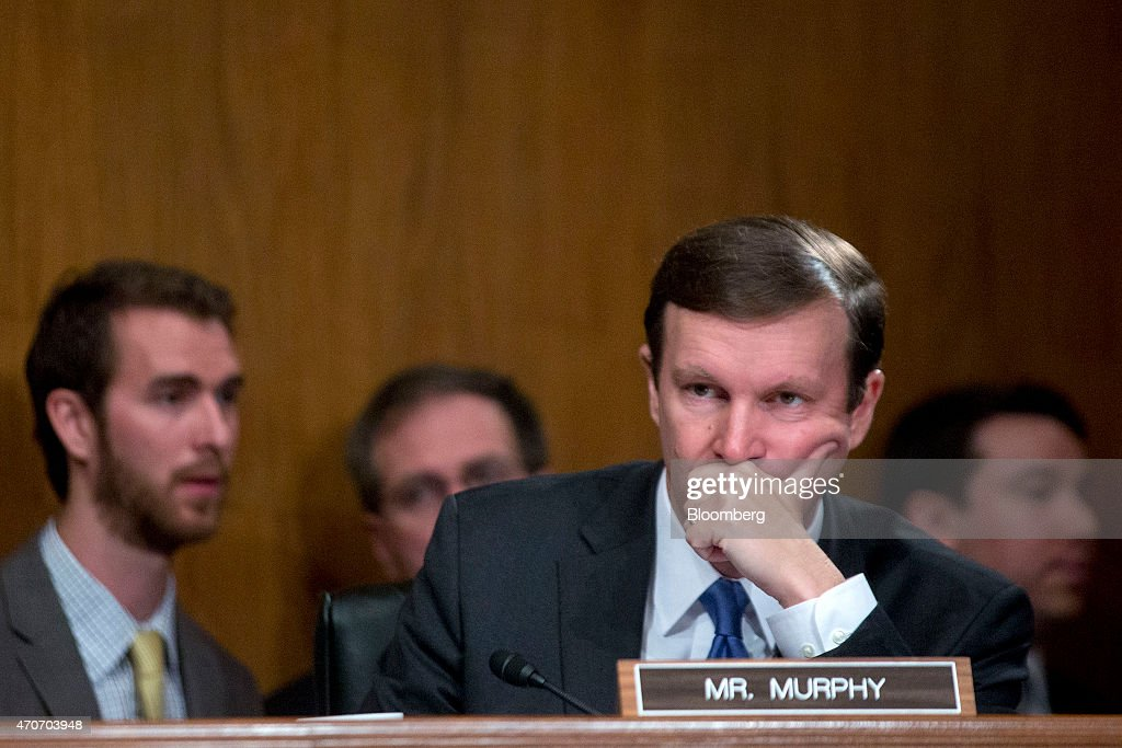 Senator Christopher 'Chris' Murphy, a Democrat from Connecticut, listens during a Senate Transportation, Housing and Urban Development Subcommittee hearing with Anthony Foxx, U.S. transportation secretary, not pictured, in Washington, D.C., U.S., on Wednesday, April 22, 2015. The Obama administration's six-year, $478 billion transportation reauthorization proposal, the GROW America Act, is a 'Band-Aid approach' that fails to put forward a long-term solution for sustaining highway and mass transit programs and includes unrealistic funding levels, said Senator Susan Collins at the hearing. Photographer: Andrew Harrer/Bloomberg via Getty Images