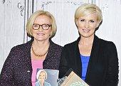 S Senator Claire McCaskill and Mika Brzezinski of MSNBCÕs ÒMorning JoeÓ attend AOL Build Presents 'Plenty Ladylike' at AOL Studios in New York on...