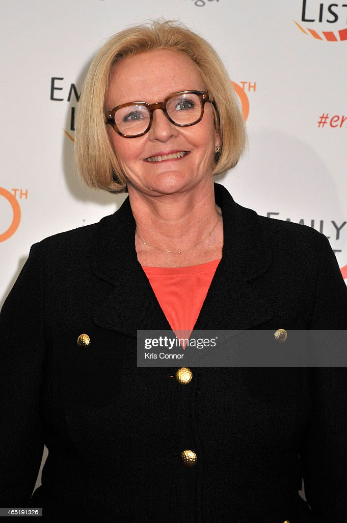 Senator Claire McCaskill attends EMILY's List 30th Anniversary Gala at Washington Hilton on March 3 2015 in Washington DC