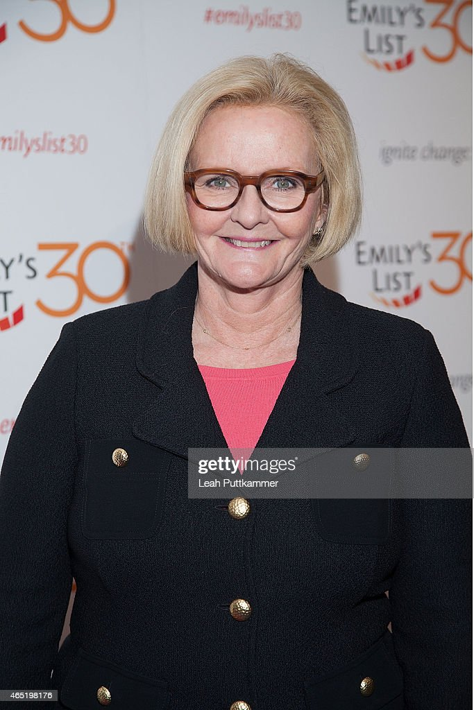 Senator Claire McCaskill attends the EMILY's List 30th Anniversary Gala at Hilton Washington Hotel on March 3 2015 in Washington DC