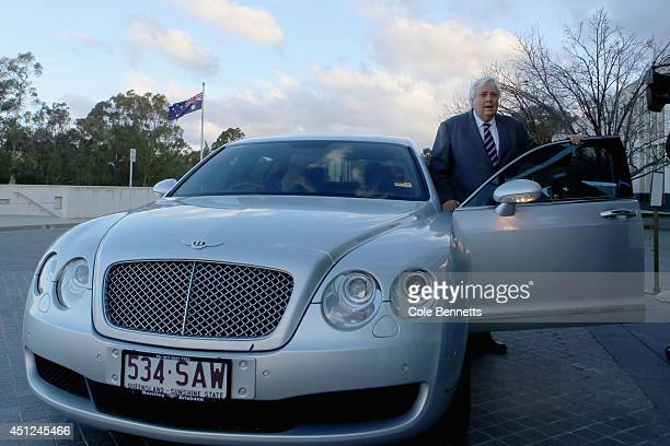 Senator Clive Palmer leaves Parliament House on June 26 2014 in Canberra Australia In a move that has shocked political commentators Clive Palmer...