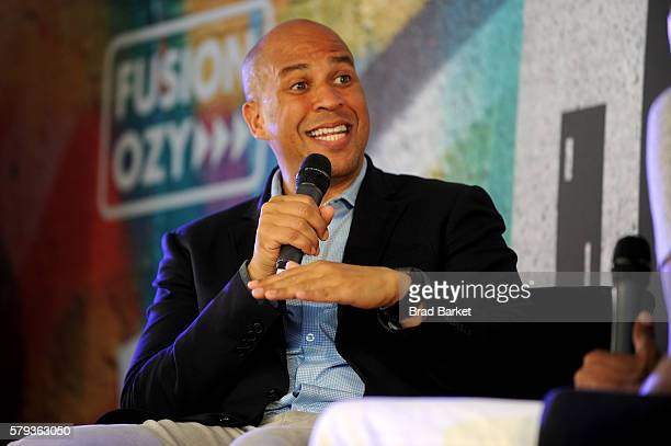 Senator Corey Booker attends OZY Fusion Fest 2016 at Rumsey Playfield in Central Park on July 23 2016 in New York City