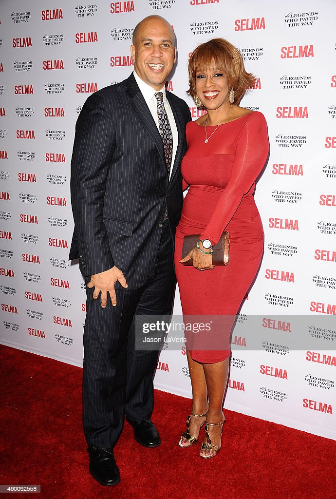 Senator Cory Booker and Gayle King attend the 'Selma' and the Legends Who Paved the Way gala at Bacara Resort on December 6, 2014 in Goleta, California.