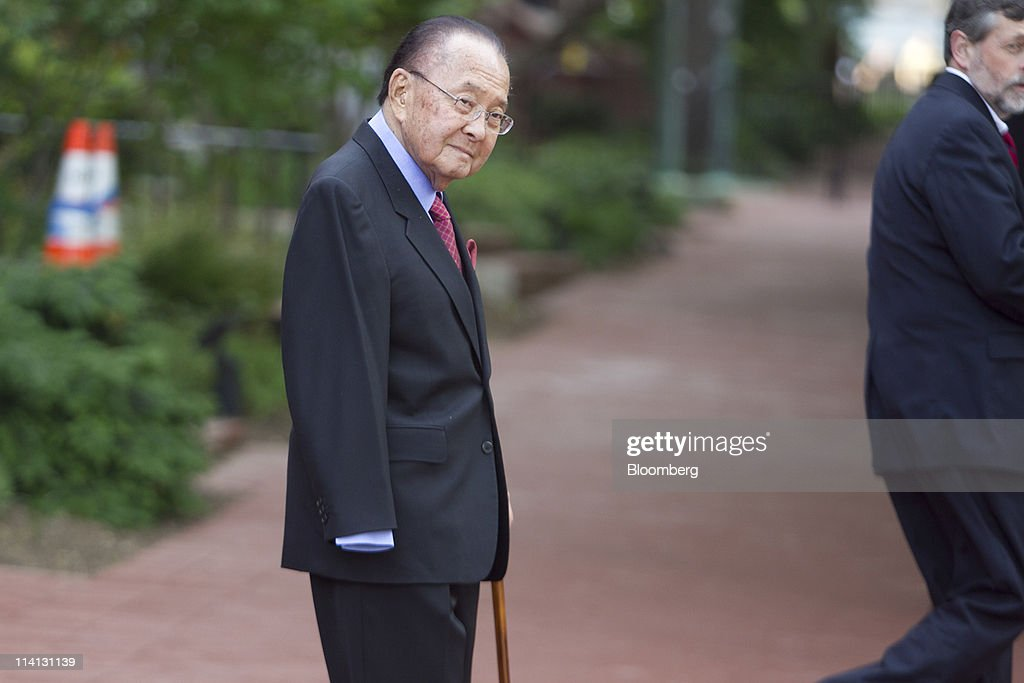 Senator Daniel Inouye, a Democrat from Hawaii, leaves the Blair House after a bipartisan meeting on deficit reduction with congressional leaders in Washington, D.C., U.S., on Thursday, May 12, 2011. 'We are actually making progress,' Vice President Joseph Biden told reporters after the group met today. The group plans to meet again after the House's one-week recess next week, said the vice president, who also said he doesn't have a timetable for reaching a decision. Photographer: Andrew Harrer/Bloomberg via Getty Images