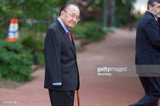 Senator Daniel Inouye a Democrat from Hawaii leaves the Blair House after a bipartisan meeting on deficit reduction with congressional leaders in...