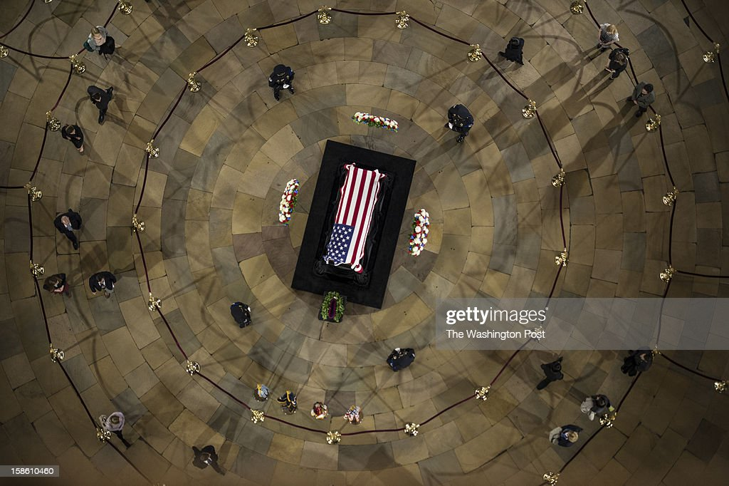 DECEMBER 20 -- Senator Daniel Inouye (D-HI) lies in state at the Capitol Rotunda on Capitol Hill in Washington, D.C., on Thursday, December 20, 2012.