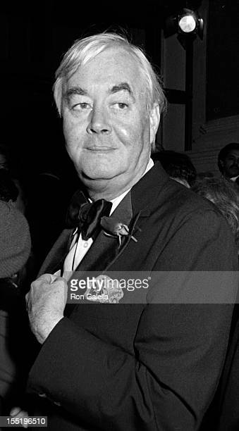 Senator Daniel Patrick Moynihan attends Frank Sinatra Opening on December 15 1986 at Carnegie Hall in New York City