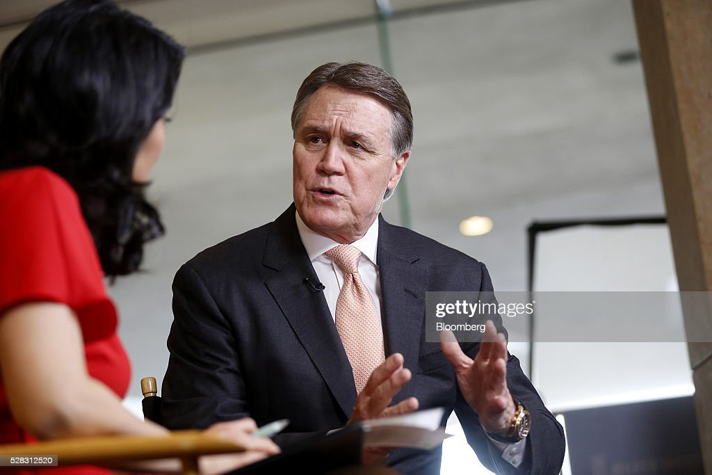 Senator Dave Perdue, a Republican from Georgia, speaks during a Bloomberg Television interview the annual Milken Institute Global Conference in Beverly Hills , California, U.S., on Monday, May 2, 2016. The conference gathers attendees to explore solutions to today's most pressing challenges in financial markets, industry sectors, health, government and education. Photographer: Patrick T. Fallon/Bloomberg via Getty Images