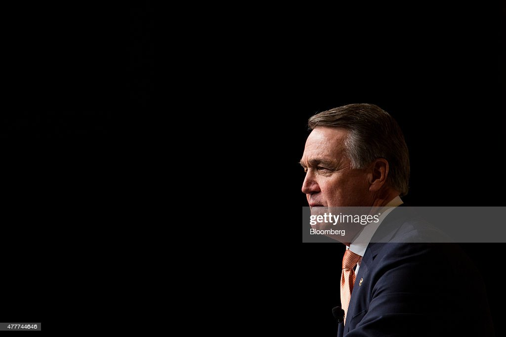 Senator <a gi-track='captionPersonalityLinkClicked' href=/galleries/search?phrase=David+Perdue&family=editorial&specificpeople=4276858 ng-click='$event.stopPropagation()'>David Perdue</a>, a Republican from Georgia, speaks during the Faith and Freedom Coalition's 'Road to Majority' conference in Washington, D.C., U.S., on Friday, June 19, 2015. The annual Faith & Freedom Coalition Policy Conference gives top-tier presidential contenders as well as long shots a chance to compete for the large evangelical Christian base in the crowded Republican primary contest. Photographer: Drew Angerer/Bloomberg via Getty Images