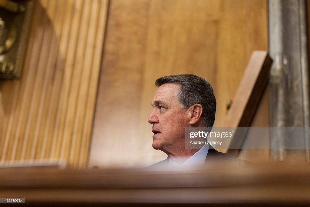 Senator <a gi-track='captionPersonalityLinkClicked' href=/galleries/search?phrase=David+Perdue&family=editorial&specificpeople=4276858 ng-click='$event.stopPropagation()'>David Perdue</a> during a Senate Foreign Relations Committee hearing on U.S. Policy In Ukraine: Countering Russia and Driving Reform in Washington, D.C., USA on March 10, 2015. Samuel Corum / Anadolu Agency
