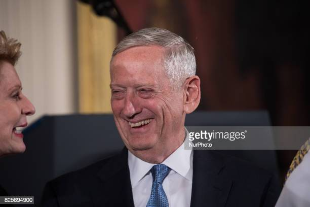 Senator Debbie Stabenow and US Secretary of Defense James Mattis were present for he Medal of Honor ceremony for former Specialist Five James C...