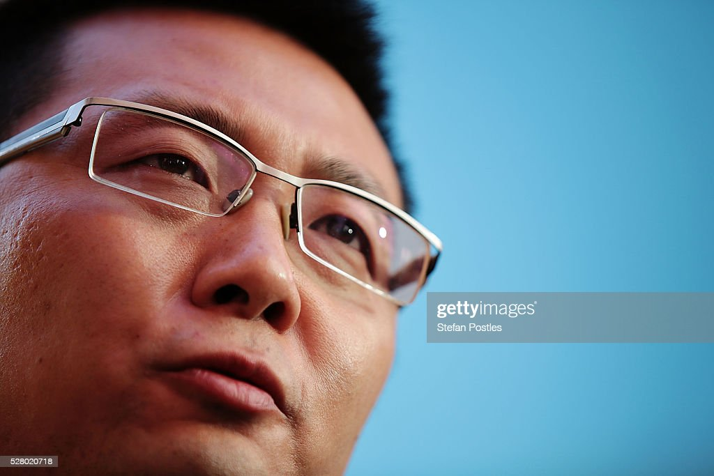 Senator Dio Wang speaks to the media during a Palmer United press conference at Parliament House on May 4, 2016 in Canberra, Australia. The Turnbull Goverment's first budget has delivered tax cuts for small and medium businesses, income tax cuts people earning over $80,000 a year,new measures to help young Australians into jobs and cutbacks to superannuation concessions for the wealthy.