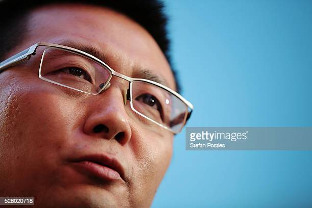 Senator Dio Wang speaks to the media during a Palmer United press conference at Parliament House on May 4 2016 in Canberra Australia The Turnbull...