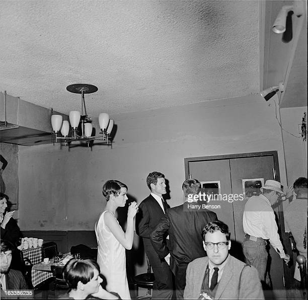 US Senator Edward Kennedy attends a party to celebrate the opening of a BritishAmerican store USA October 1965