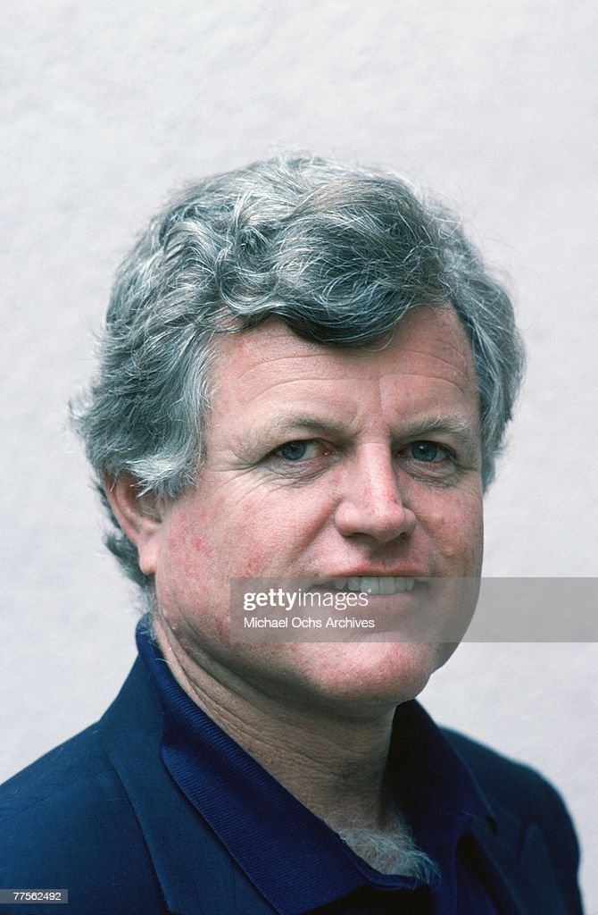 Senator Edward Kennedy poses for a portrait in April 1982 in Los Angeles, California.