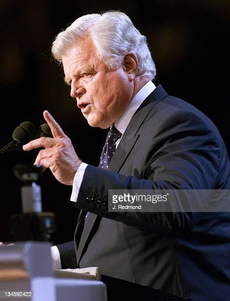 Senator Edward M Kennedy during 2000 Democratic National Convention August 16 2000 at Staples Center in Los Angeles California United States