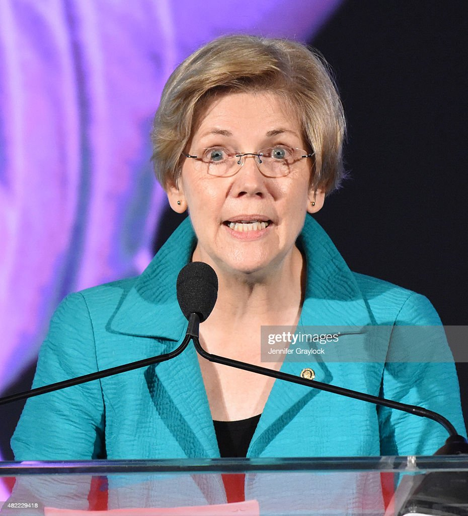 Senator <a gi-track='captionPersonalityLinkClicked' href=/galleries/search?phrase=Elizabeth+Warren&family=editorial&specificpeople=5396017 ng-click='$event.stopPropagation()'>Elizabeth Warren</a> (D-MA) attends the Planned Parenthood Generation Conference opening ceremony and welcome reception at the Marriott Wardman Park Hotel on July 8, 2015 in Washington, DC.