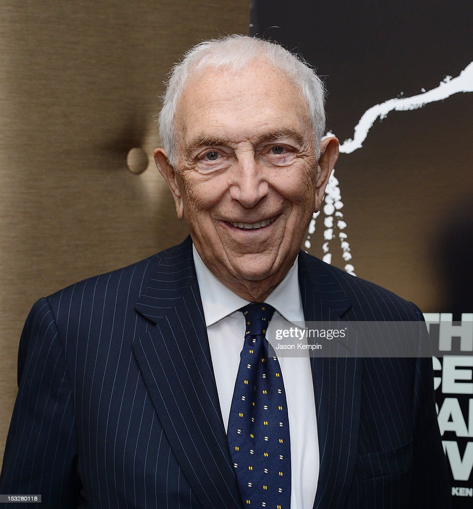 Senator <a gi-track='captionPersonalityLinkClicked' href=/galleries/search?phrase=Frank+Lautenberg&family=editorial&specificpeople=240397 ng-click='$event.stopPropagation()'>Frank Lautenberg</a> attends 'The Central Park Five' New York Special Screening at Dolby 88 Theater on October 2, 2012 in New York City.