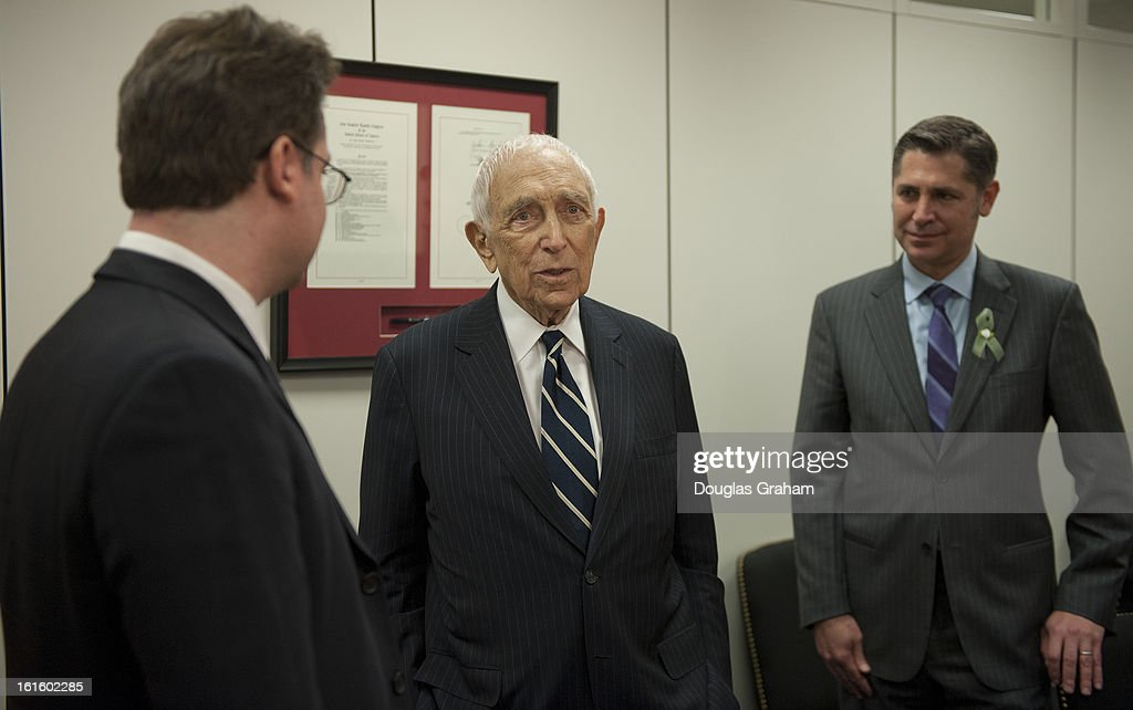 U.S. Senator Frank R. Lautenberg (D-NJ) will greets Dan Gross, President of the Brady Campaign to Prevent Gun Violence and his brother Matt Gross, a New Jersey native who was shot in the head in 1997 during a shooting attack on the observation deck of the Empire State Building. Matt Gross will attend the State of the Union as a guest of Senator Lautenberg.