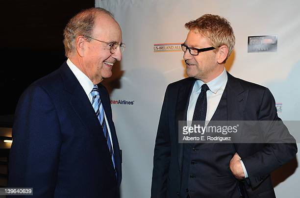 Senator George Mitchell and actor Kenneth Branagh attend the 7th Annual 'Oscar Wilde Honoring The Irish In Film' PreAcademy Awards Event at Bad Robot...