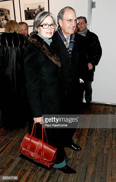 Senator George Mitchell and guest attend the opening of 'Belfast Blues' at The Culture Project January 20 2005 in New York City