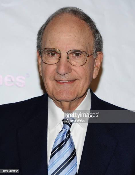 Senator George Mitchell arrives at the 7th Annual 'Oscar Wilde Honoring The Irish In Film' PreAcademy Awards Event at Bad Robot on February 23 2012...