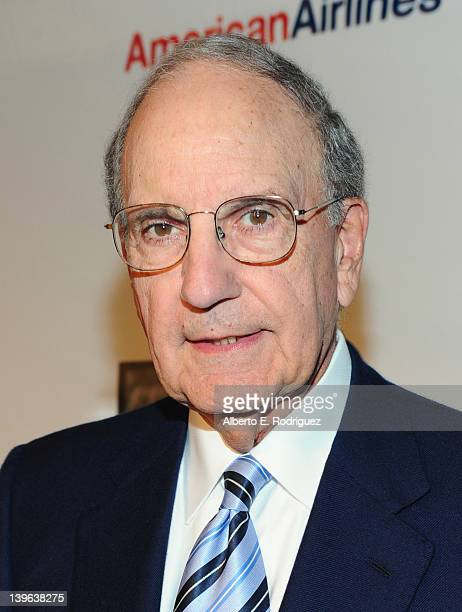 Senator George Mitchell attends the 7th Annual 'Oscar Wilde Honoring The Irish In Film' PreAcademy Awards Event at Bad Robot on February 23 2012 in...