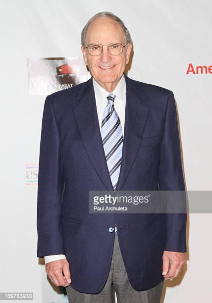 Senator George Mitchell attends the USIreland Alliance annual Oscar Wilde PreOscar party at Bad Robot Studios on February 23 2012 in Santa Monica...