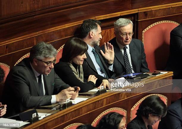 Senator Giulio Tremonti attends the Italian Parliament inaugural session at Senate on March 15 2013 in Rome Italy The new Italian parliament which...