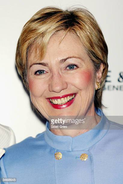 Senator Hillary Clinton arrives at the 2nd Annual More Alpha Woman Award ceremony at The Four Seasons Restaurant April 26 2004 in New York City