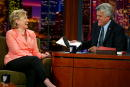 Senator Hillary Rodham Clinton appears on the 'Tonight Show with Jay Leno' at the NBC Studios August 4 2003 in Burbank California