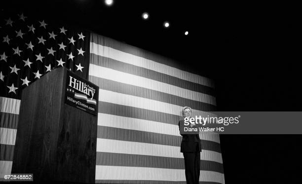 Senator Hillary Rodham Clinton at a standingroomonly fundraiser on February 1 2008 at the Orpheum Theater in San Francisco California CREDIT MUST...
