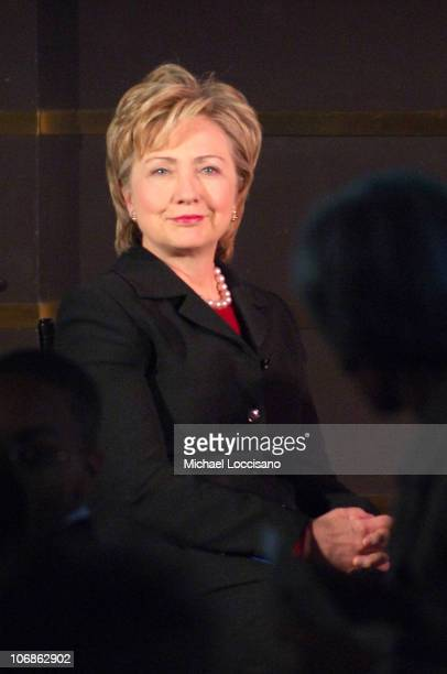 Senator Hillary Rodham Clinton during the Children's Defense Fund's 2006 Winter Benefit Luncheon at the Rainbow Room in New York New York on January...
