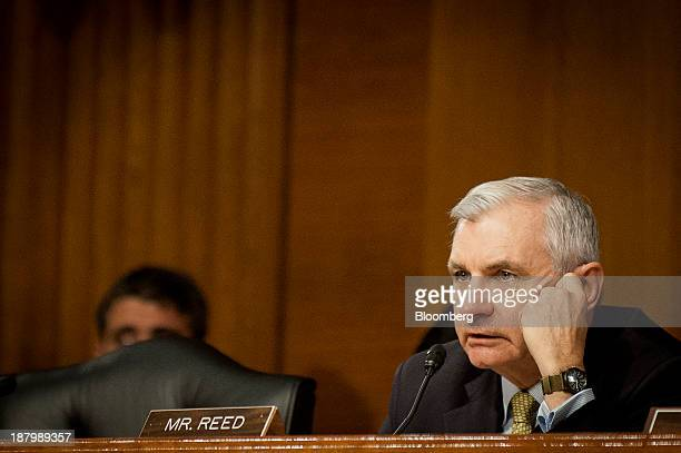 Senator Jack Reed a Democrat from Rhode Island listens as Janet Yellen vice chairman of the US Federal Reserve and US President Barack Obama's...